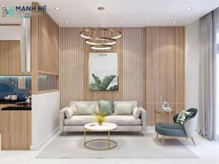 Salones de estilo moderno de Công ty TNHH Nội Thất Mạnh Hệ Moderno
