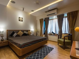 4 BHK Residential Interiors, Prabhat Road Classic style bedroom by MnM Architects Classic