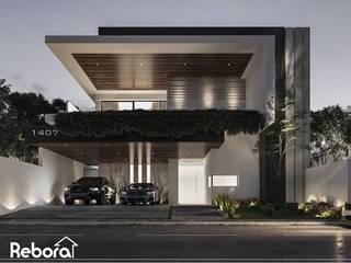 Una residencia de diseño único, calidad en materiales, perfección e innovación. Casas modernas de Rebora Arquitectos Moderno