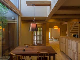 T邸 和風デザインの ダイニング の 株式会社大森創太郎建築事務所 和風
