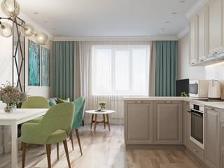Квартира в Краснообске Кухни в эклектичном стиле от Кудряшова Анастасия студия ProDom Эклектичный