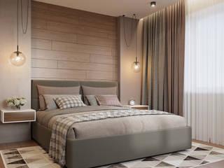 Квартира на Залесского Спальня в скандинавском стиле от Кудряшова Анастасия студия ProDom Скандинавский