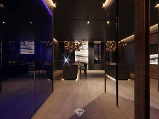 Corredores, halls e escadas modernos por Студия дизайна интерьера Руслана и Марии Грин Moderno