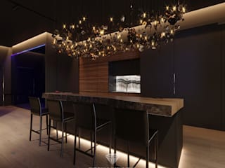 Cozinhas modernas por Студия дизайна интерьера Руслана и Марии Грин Moderno