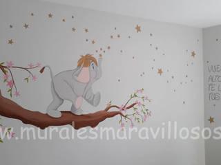 Murales infantiles personalizados pintados en habitaciones de niños y niñas Dormitorios infantiles de estilo moderno de MURALES MARAVILLOSOS Moderno