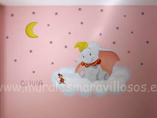 Murales infantiles personalizados pintados en habitaciones de niños y niñas de MURALES MARAVILLOSOS Moderno