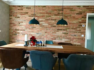 Industrial style dining room by Antik-Stein Industrial