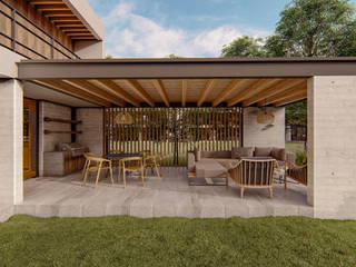 Conjunto Rancho Avandaro Balcones y terrazas modernos de C_arquitectos Moderno