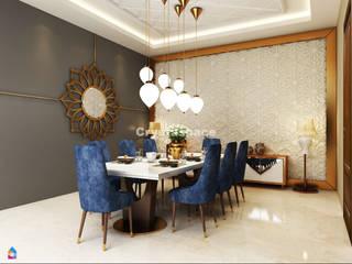 Premium 4BHK Interior Design Project at Janakpuri West, Delhi Modern dining room by Crystaspace Modern