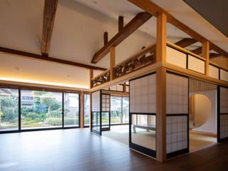 射水の家 和風デザインの 多目的室 の 梶浦博昭環境建築設計事務所 和風