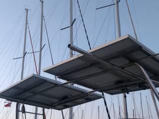 Güneşten elektrik Elektrikçi Endüstriyel Yat & Jetler Aluminyum/Çinko Metalik/Gümüş