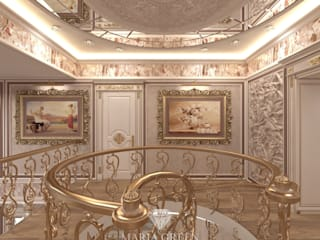 A design of the spiral staircase in a classic style от Interior Designer Maria Green Классический