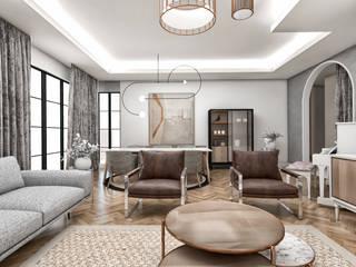Modena'da Konut Modern Oturma Odası CRK İÇ MİMARLIK Modern