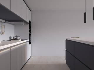 Olívia | Projeto 3D de Cozinha Moderna por Cozinhas Online