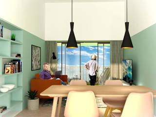 Moradia em S. Martinho Salas de estar modernas por HUMA arquitetura Moderno
