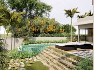 AJR ARQUITETURA Garden Pool Concrete Green