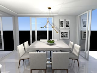 Sala de Estar e Jantar Integradas Salas de jantar modernas por MEI Arquitetura e Interiores Moderno