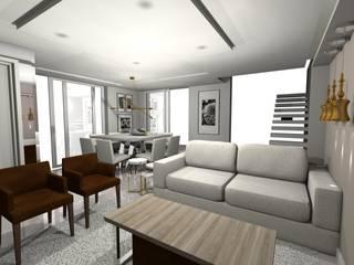 Sala de Estar e Jantar Integradas Salas de estar modernas por MEI Arquitetura e Interiores Moderno