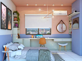 Quarto Colorido Quartos modernos por Lorena Porto - Arquitetura e Interiores Moderno