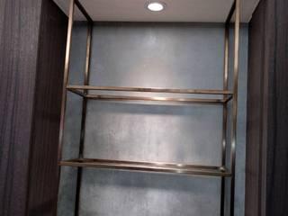 室內鐵件 宇堂室內裝修有限公司 客廳書櫃 金屬 Amber/Gold