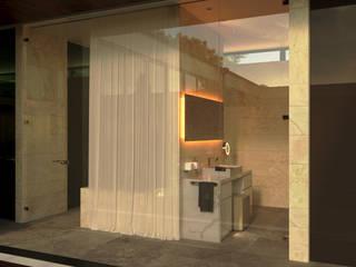 Shigeo Nakamura Design Office Baños de estilo minimalista Cerámico Beige