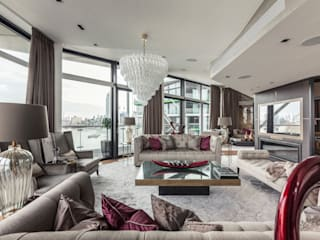 Vauxall Luxury Penthouse Salones clásicos de Simone Morciano Photography Clásico