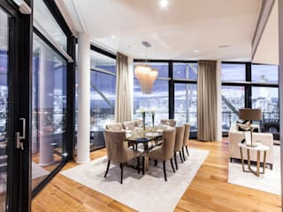 Vauxall Luxury Penthouse Comedores clásicos de Simone Morciano Photography Clásico