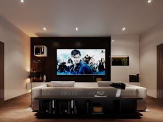 Modern media room by RIKATA DESIGN Modern