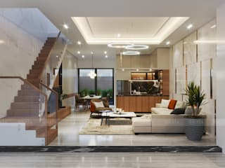 Modern living room by RIKATA DESIGN Modern