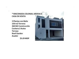 CASA EN VENTA EN RINCONADA COLONIAL APODACA NL de FerzA Inn Mobiliaria
