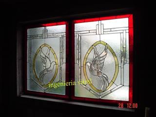 モダンな 窓&ドア の Ingeniería Vitral モダン