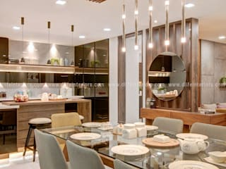 A Sprawling Luxury Space Tailored with finest of Finishes by D'LIFE. Modern dining room by DLIFE Home Interiors Modern