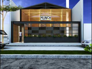 BAR MCH Balcones y terrazas modernos de Geometrica Arquitectura Moderno