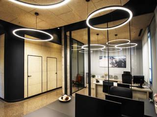 Oficinas y bibliotecas de estilo moderno de Rafael Hernáez Loza AITEC Proyectos Moderno