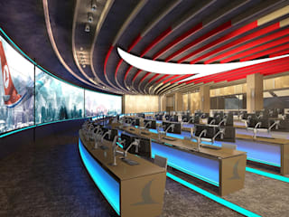 Modern airports by 4Faz Tasarım Mühendislik Mimarlık Danışmanlık Ltd. Şti. Modern