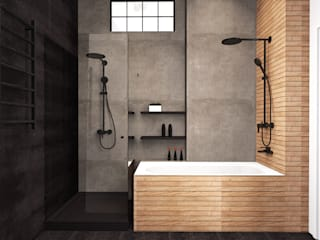 Industrial style bathroom by Екатерина Александрова Industrial