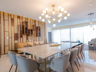 Eclectic style dining room by ESTUDIO TANGUMA Eclectic