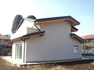 BCL Bergamasca Costruzioni Legno Rumah prefabrikasi Kayu Buatan White