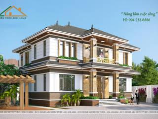 THIẾT KẾ VÀ THI CÔNG BIỆT THỰ VƯỜN 2 TẦNG MỸ ĐỨC bởi Công ty CP kiến trúc và xây dựng Eco Home