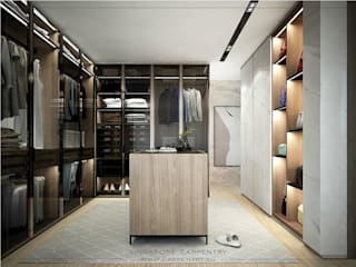 Closets por Singapore Carpentry Interior Design Pte Ltd Moderno
