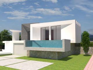 Barreres del Mundo Architects. Arquitectos e interioristas en Valencia. บ้านเดี่ยว คอนกรีต White