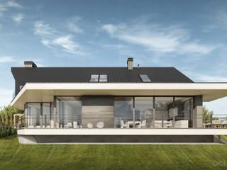 Projekt nowoczesnego domu jednorodzinnego od KJ Architekci Nowoczesny