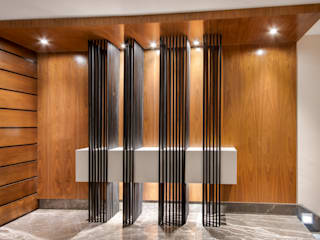 Corredores, halls e escadas modernos por ESTUDIO TANGUMA Moderno