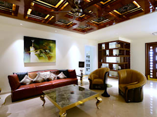 Villa at Jubilee Hills Classic style living room by Metaphor Interiors Classic