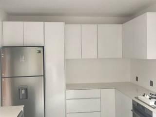 All White Simplistic Kitchen by Samurai Kitchens Minimalist