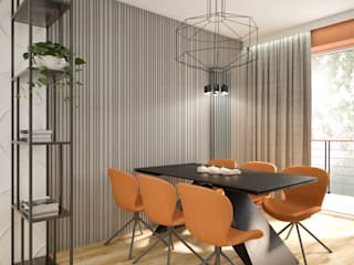 Nevi Studio Modern dining room Orange