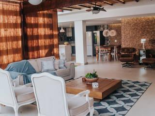 Reforma de uma área externa - PROJETO HD Salas de estar modernas por Studio Pedro Galaso Moderno