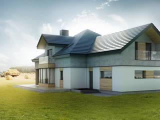 Budownictwo i Architektura Marcin Sieradzki - BIAMS Single family home Concrete White