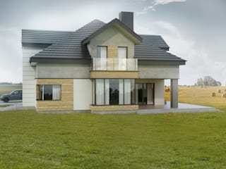 Budownictwo i Architektura Marcin Sieradzki - BIAMS Вілли Скло Сірий