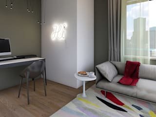 LIVE the Living room di Giulia Grillo Architetto Moderno